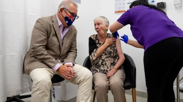 The first person in Australia to receive the first Pfizer dose was aged care resident and World War II survivor Jane Malysiak. Prime Minister Scott Morrison also received the vaccine.