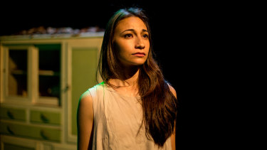 Emina Ashman in Make Me A Houri, on stage at La Mama Courthouse