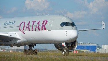 The women were on a Qatar Airways flight from Doha to Sydney.