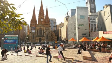 The men went to Federation Square to scope it out for a terror attack.