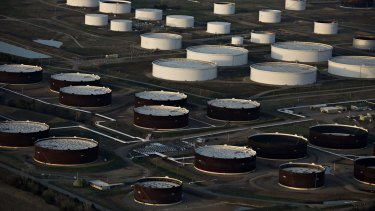 Global oil storage facilities are near capacity after a massive increase in oil stocks.