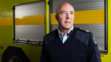 ACT Fire and Rescue chief officer Mark Brown, who says the light rail incident response plan for Canberra is consistent with other jurisdictions.