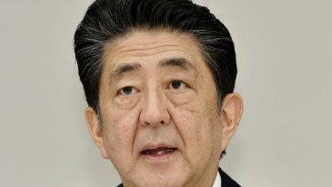 Resigned: Japanese PM Shinzo Abe.