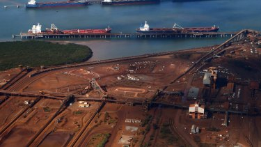 WA's Port Headland, the nation's most important iron ore port, was heavily affected by a recent cyclone which has contributed to a sharp fall in exports in February.