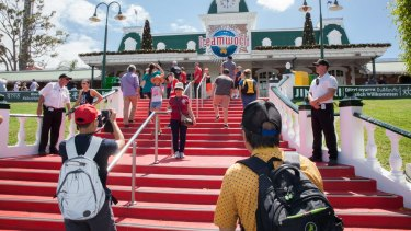 Guests return to Dreamworld in late 2016 after the park closed following the ride tragedy.