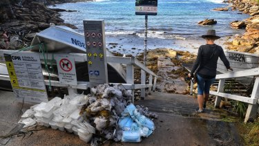 Debris including surgical masks washed up near Gordons Bay in May.