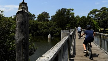 Potential: the Cooks River cycleway runs from Botany Bay to Strathfield, Rhodes and Ryde.