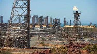 Woodside Petroleum's North West Shelf gas plant in Karratha on the Burrup Peninsula.