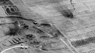 A photo of a preliminary damage assessment from the Him Shinshar Chemical Weapons Storage Site in Syria in 2018.