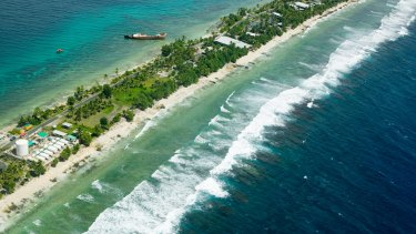 Funafuti atoll on Tuvalu ... a nation pleading for its future.
