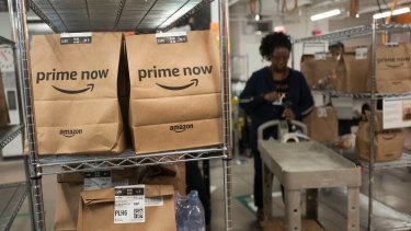 Amazon is experiencing a surge in orders.