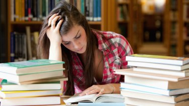 Research from the OECD found about half of Australian students experienced stress during their studies and exams.