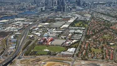 The Fishermans Bend urban renewal site.