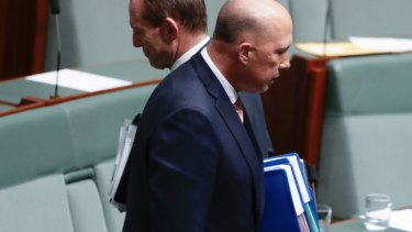 The Liberal brand is damaged ...  Tony Abbott and Peter Dutton.