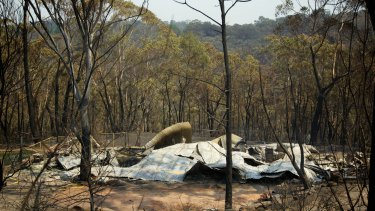 The aftermath of the Winmalee bushfire.