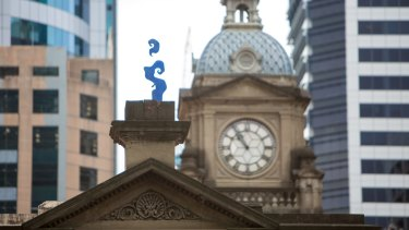 Smoke, by guerrilla street artist Blue Art Xinja, has been at Central Station since 2012.
