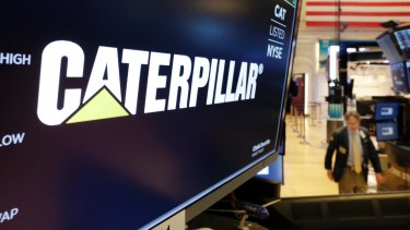 Caterpillar shares slumped on its disappointing results.