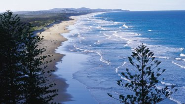 The girl was attacked in public toilets near Coolum Beach on the Sunshine Coast.