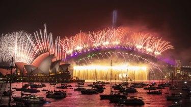 Sydney rings in 2020.