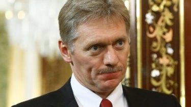 Infected: Presidential spokesman Dmitry Peskov.
