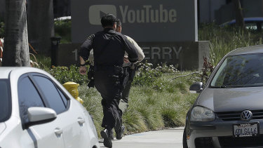Police searched the building and found a female suspect with self-inflicted gunshot wounds.