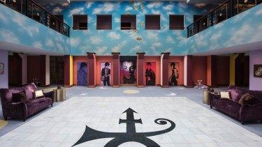 The atrium of Prince's Paisley Park on the outskirts of Minneapolis, Minnesota.