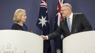 "Prime Minister Scott Morrison said ""Australians trust Ita"" when announcing Ita Buttrose as chairwoman of the ABC in February."
