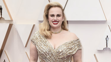 Rebel Wilson, pictured at Monday's Oscars, has been nominated for two Razzies.