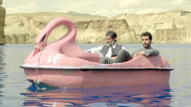 Shot in secret in Afghanistan: Sam Smith (right) and Sher Alam Miskeen Ustad in Jirga.