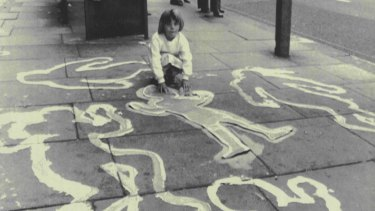 Nuclear war fears in the mid-1980s in the UK. Shadows Of Hiroshima. Part of a series of events organised by the Campaign for Nuclear Disarmament to commemorate the 42nd anniversary of the nuclear bombings of Hiroshima and Nagasaki in 1987.