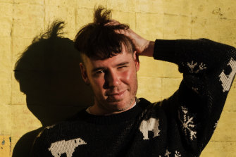 """Musician Jack Colwell says shaving all but the top of his head was a """"cathartic"""" experience."""