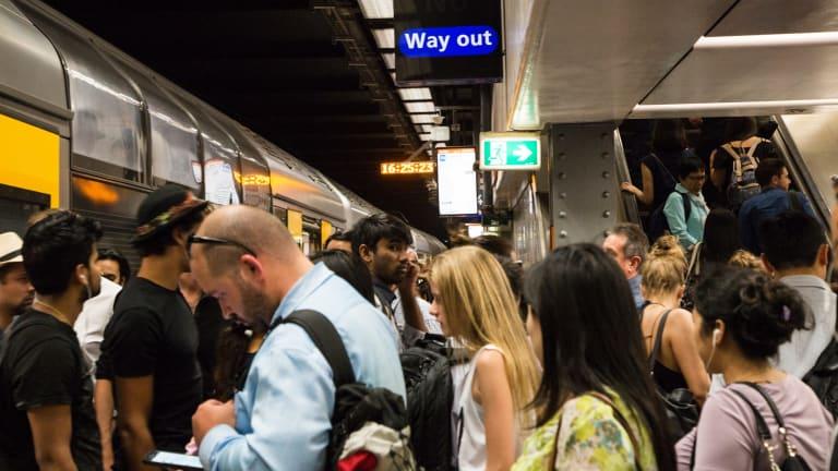 Public transport suffers congestion at peak hours.
