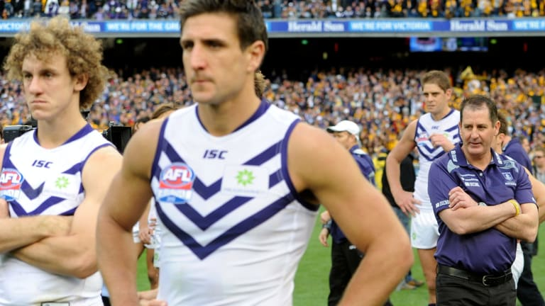 Fremantle lost the 2013 grand final but it seemed like the start of a successful era under Ross Lyon.