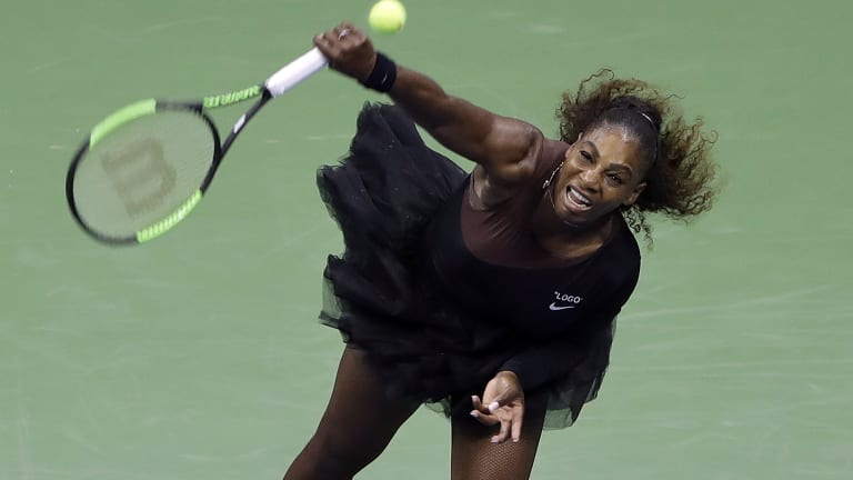Et tutu ... Serena Williams in her new look at the US Open.