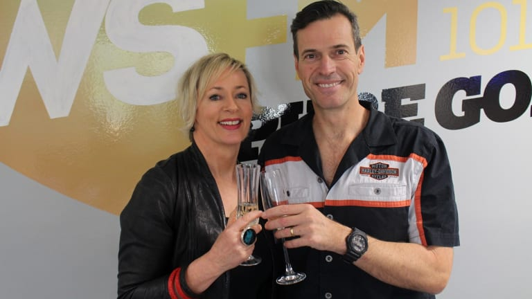 Toast of Sydney: WSFM's Amanda Keller and Brendan 'Jonesy' Jones.
