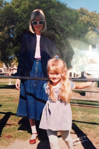 Strahovski as a child growing up in western Sydney with her mother, Bozena.