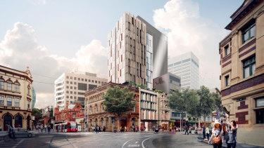 The site at 750 George Street, Sydney has a development approval for a 17-storey retail and hotel site.