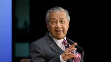 Mahathir Mohamad, Malaysia's prime minister, speaks during the Future of Asia conference in Tokyo in May.
