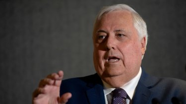 Clive Palmer has been ordered to pay legal costs on a standard basis.