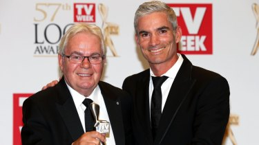 The world game: Les Murray and Craig Foster.