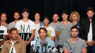 Some of the banned Essendon players