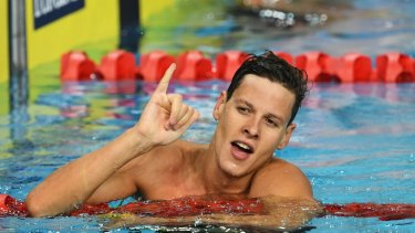 Senior figure: Backstroker Mitch Larkin continues to be a leader within Australian swimming.
