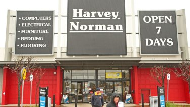 Australian retail is not in recession, Mr Harvey said, despite sales sliding at the company's local stores.