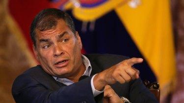 Ecuador's ex-president Rafael Correa.