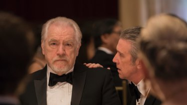 Brian Cox plays media magnate Logan Roy in HBO's Succession.