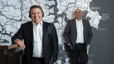 The Agency's managing director Paul Niardone with CEO Matt Lahood.