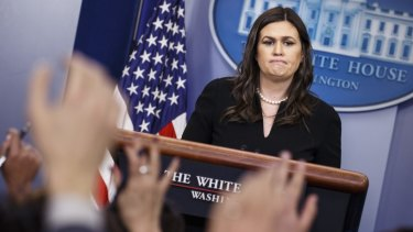 Sarah Huckabee Sanders has stopped giving press briefings and even responding to media requests,
