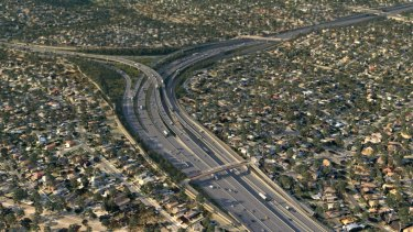 An artist's impression of a proposed North East Link interchange.