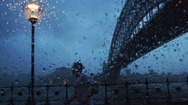 From about sunrise on Wednesday, rain is expected to drench the Sydney basin, especially in the south, and the Illawarra.
