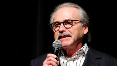 The post was addressed to David Pecker, the chief of National Enquirer publisher American Media.